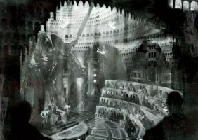 Necropolis Council Chamber by narcoloth