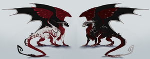 Blood Dragon Siblings Adoptables by Lord-StarryFace