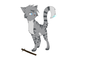 Jayfeather and his stick by WoLfTailedFOx