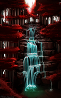 Practice - waterfall 01 by MaterArsenic