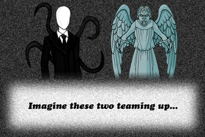 Team YASS - Slender man and Weeping Angel by TakeruDavis