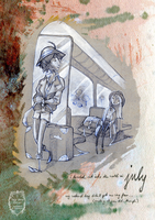 2015 calendar 'encounters' - july by Miss-Belfry