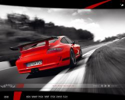 Red porsche desk - 0126 by nyolc8