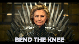 Hillary on the Iron Throne by Chronorin