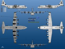 Lockheed Martin  EC-130J-30 Radar Hunter by haryopanji