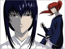 kenshin and tomoe by flameberd