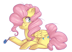 Finale Fluffyshy style by qeius