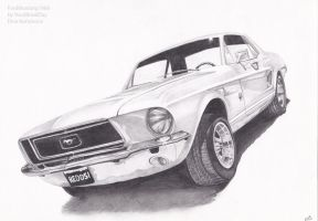 Ford Mustang 1968 by YourBloodDay