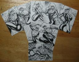 BLACK CAT PERSONAL SKETCH CARDS 2013 INKS by AHochrein2010