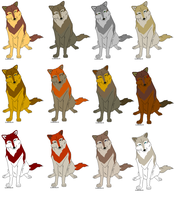 Wolf Adoptables by snails1000