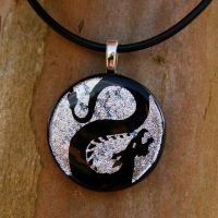 Basilisk Fused Glass Pendant by FusedElegance