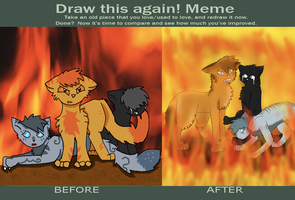 Draw it Again: Trapped in Flames by RainingRaven
