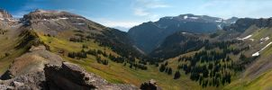 Death Canyon Panorama by wetdog969
