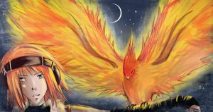 Night Phoenix by VulpesLesya