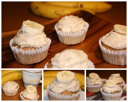 Banana Cupcakes by pica-ae