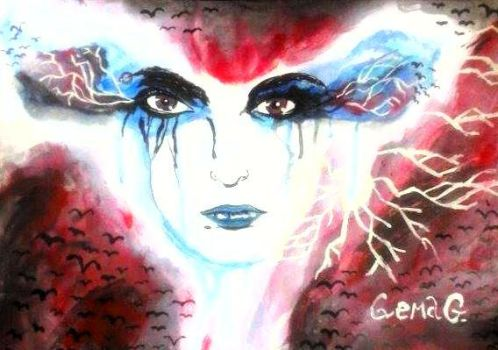 Electric~ (Bill Kaulitz, watercolours) by GemaG
