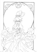 Turf Deity .:lineart:. by Angelic-Blossoms