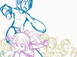 Megaman Tribute Process by SaiyaGina