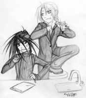 Chemistry Class - Ed and Envy by vengeful-lilith