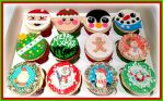 Christmas Cupcakes by gertygetsgangster