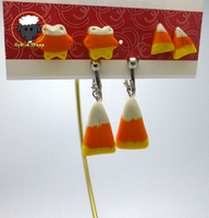 Candy Corn Earrings by Hybrid Sheep by Hybrid-Sheep