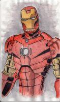 Traditional Iron Man by xanderw