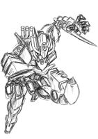 Assassin Gundam quick sketch by Twilight-Hikari