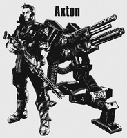 Axton Stencil by CrimsonAnchors
