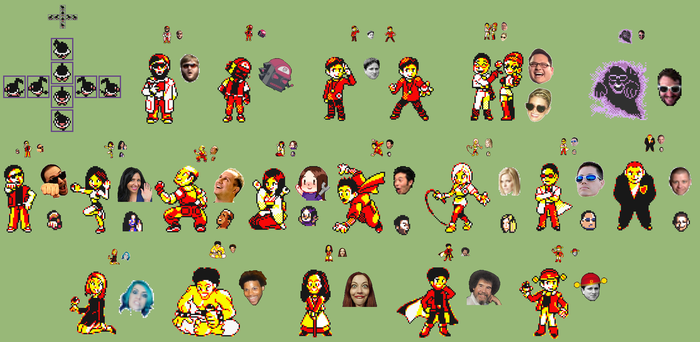 Chatty Yellow Sprites by Megaman-Omega