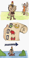 Heracles and Orthrus by Allison-beriyani