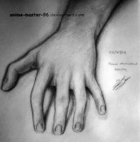 Hand - 1 Hour Observational drawing - realism by anime-master-96