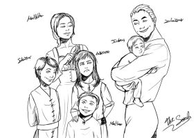 Adrienne's family doodle by Blueberry-me