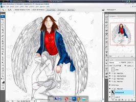 WIP - Request - Ander's Angel by Gradashi