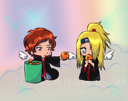 Sasori and Deidara :D by gingadensetsuweed5