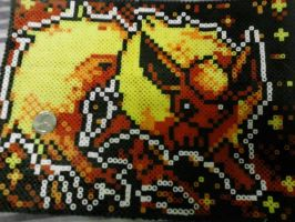 Pokemon Card Art Flareon Perler by Perler-Pop