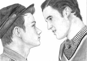 Kurt and Blaine - Glee by MajaGantzi