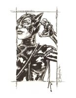 Batman Returns Catwoman by artistjerrybennett