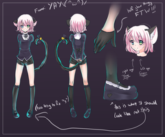Fumei Jenda: Reference sheet by Kaito-Tan