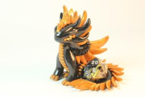 Feathered Dice Dragon by ShaidySkyDesign