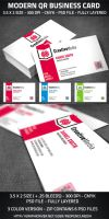 Modern QR Business Card by graphicstock