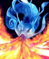 Kingdra used Dragonbreath by itsa-puck