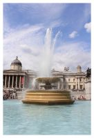 Trafalgar Square Fountain by Pajunen
