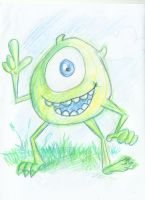 Mike Wazowski v2 by richard-chin by richard-chin