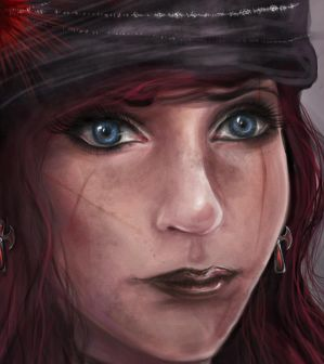 Pirate Character Concept Portrait ~ Close Up by CharlightArt