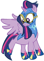 Twilight Sparkle Pony Puff by saramanda101
