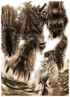 Shadow of the Colossus-mono by Ricsnake