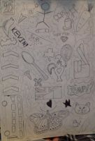 One Direction Doodle Art by LexoTheWolf