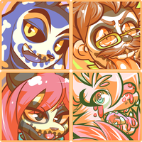 Spooky icons batch 1 by Gullacass