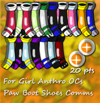 Paw boot model Commission Batch Examples For 20 pt by KechiTheHedgie