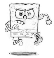 SpongeBob sketch forBIG ACTION by shermcohen